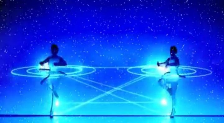 Energie, dans, licht, muziek